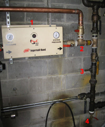 How to install a compressed air pressure regulator, how to avoid pressure drop in a compressed air system, the correct way to install a compressed air bypass