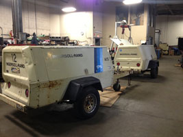 Ingersoll Rand and Kaeser Tow Behind Air Compressor Repair NY
